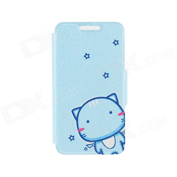 Kinston Cute Cat Pattern PU Leather + Plastic Flip Open Case w/ Stand for IPHONE 6 4.7 kinston kst92535 silk pattern pu plastic case w stand for iphone 6 plus white