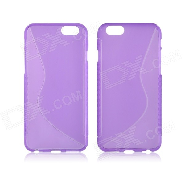 Angibabe S Line Transparent TPU Back Case for IPHONE 6 4.7 - Purple 1ps ninja heroes kai jay cole zane nya lloyd motorcycle with weapons building blocks figure compatible legoinglys ninjagoinglys