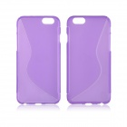 "Angibabe S Line Transparent TPU Back Case for IPHONE 6 4.7"" - Purple"