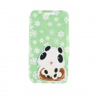 "Kinston Lovely Patterned PU + Plastic Case w/ Stand + Card Slot for IPhone 6 4.7"" - Green + White"
