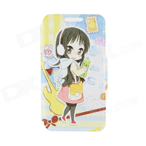 Kinston Music Girl Pattern PU Leather + Plastic Full Body Case w/ Card Slot for 4.7 IPHONE 6 kinston music girl pattern pu plastic flip open case w stand card slot for iphone 6 plus