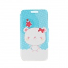 "Kinston Dog in the Cloud Pattern PU Leather Full Body Case w/ Stand for IPHONE 6 4.7"" - White + Blue"