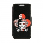 "Kinston Monkey's Head Pattern PU Leather Full Body Case with Stand for IPHONE 6 4.7"" - Black"