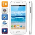 "Huiteng L350 Android 4.4 WCDMA Bar Phone w/ 4"" Screen, Wi-Fi and GPS - White + Silver"