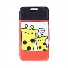 Kinston Two Giraffes Pattern PU Leather Full Body Case with Stand for IPHONE 6 4.7 inch