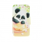 "Kinston Cup Panda Pattern PU Leather Full Body Case w/ Stand for 4.7"" IPHONE 6 - White + Black"