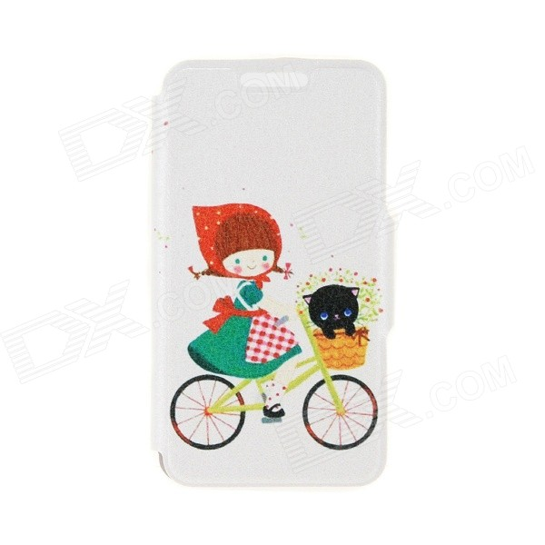 Kinston Flower & Girl Pattern PU Leather + Plastic Flip Open Case w/ Stand for IPHONE 6 4.7 jbl synchros e40bt white page 5