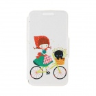 Kinston Flower & Girl Pattern PU Leather + Plastic Flip Open Case w/ Stand for IPHONE 6 4.7""