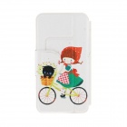 Kinston Flower & Girl Pattern PU Leather + Plastic Flip Open Case w / Stand iPhone 6 4.7 ""