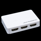 CHEERLINK 3D Mini HDMI1.4a interruptorer Conversor w / controlee remoto - Branco (3-In / 1-Out)