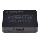 CHEERLINK Full 3D Mini HDMI 1.4a Splitter - Black (1-In / 2-Out)