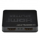 CHEERLINK 1-in 2-out completo 3D mini-HDMI 1.4a splitter - preto