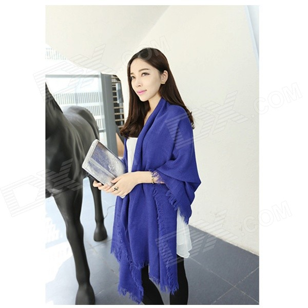 HK-22 Women's Fashionable Ultra Long Cashmere Scarf Shawl - Blue