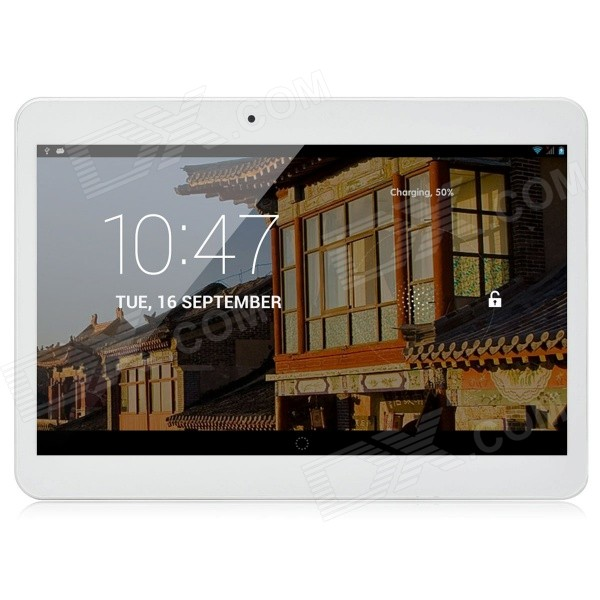 D101-HD 10.1 Android 4.4 Quad-Core Dual 3G Tablet PC w/ 2GB RAM, 16GB ROM - White d101 hd 10 1 android 4 4 quad core dual 3g tablet pc w 2gb ram 16gb rom black
