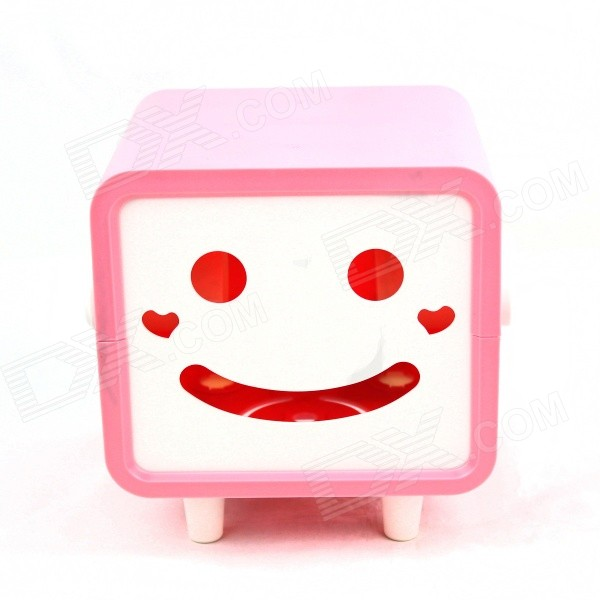 Creative Smily Towel Tissue Plastic Tube Box Holder - Pink + White - DXLifestyle Gadgets<br>Color Pink + White Material Plastic Quantity 1 Piece Packing List 1 x Tissue box<br>