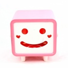 Creative Smily Towel Tissue Plastic Tube Box Holder - Pink + White