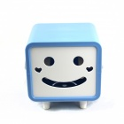 Creative Smily Towel Tissue Plastic Tube Box Holder - Blue + White
