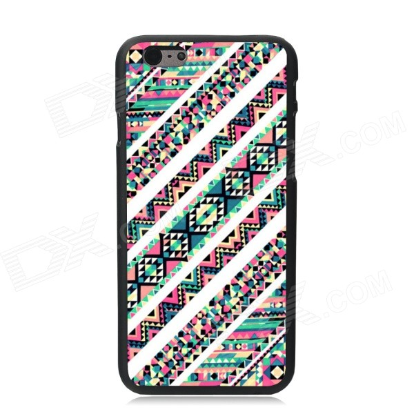 Elonbo Creative Streak Plastic Back Case for IPHONE 6 4.7 - White + Pink + Multi-Color скатерть новогодняя сказка 140х220 см 1022492