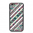 "Elonbo Creative Streak Plastic Back Case for IPHONE 6 4.7"" - White + Pink + Multi-Color"
