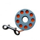 EZDIVE Scuba Diving Finger Spool w/ Double Ended Snap - Sky-blue + Orange