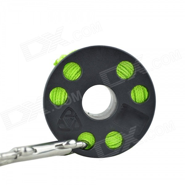 EZDIVE Mergulho Spool dedo w / Double Ended Snap - Preto + Verde