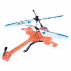 M39 Rechargeable 3.5-CH R/C Helicopter w/ Gyroscope / Remote Controller - Orange + Blue