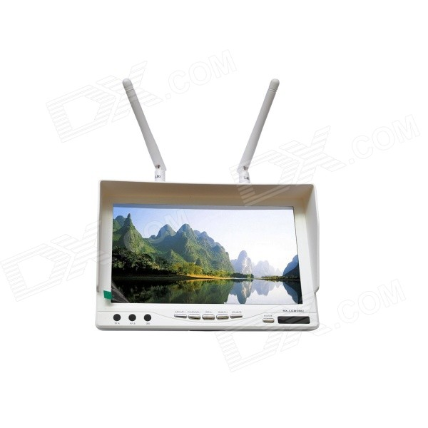 "Boscam RX-LCD5802 5.8GHz Wireless FPV 7"" Diversity LCD Screen Receiver Monitor - White"