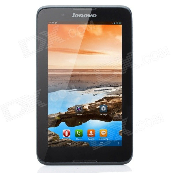 Lenovo A3300-T 7.0 IPS Quad-Core Android 4.2 ARM Cortex A7 Tablet PC w/ GSM Phone Call - Black lenovo a3300 7 2g 8gb 59408686 white