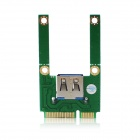 MPCIE1U-N01 Mini PCI-E to USB 2.0 Adapter- Green + Multicolored
