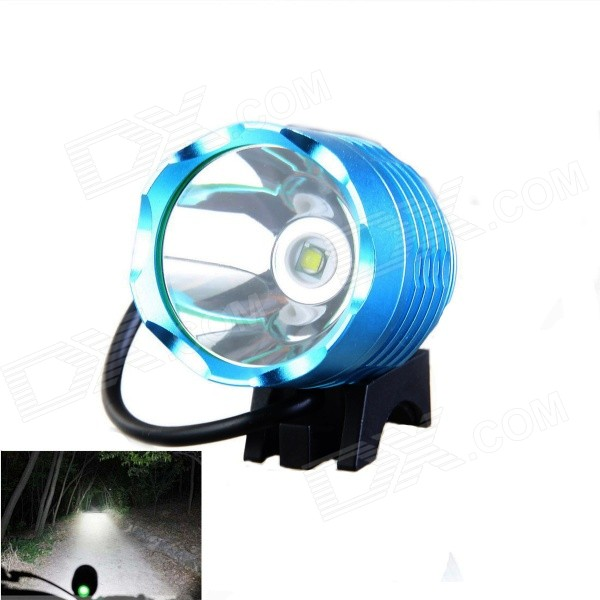 KINFIRE U2 DIY Cree XM-L T6 600lm Cool White 3-Mode White Bicycle Light - Blue (7.2~8.4V) 600lm 3 mode white bicycle headlamp w cree xm l t6 black silver 4 x 18650