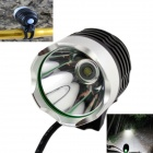 KINFIRE U2 4.2~12V Universal DIY 600lm 3-Mode White Bicycle Light w/ CREE XM-L T6 - Black + Silver