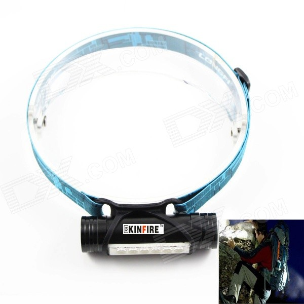 KINFIRE LED-5730 Rechargeable 6-SMD 5730 LED White 3-Mode Headlamp / Mobile Power Bank yage headlight led flashlight fishing light head lamp for hunting mini touch 2 mode switch convenient specialized outdoor lamp