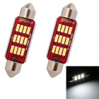 MZ Festoon 39mm 6W 12-SMD 7014 240lm LED White Light Car Reading / License Plate / Roof Light (12V)