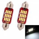 MZ Festoon 36mm 6W 12-SMD 7014 LED 240lm Car Reading / License Plate / Roof Light (12V / 2 PCS)