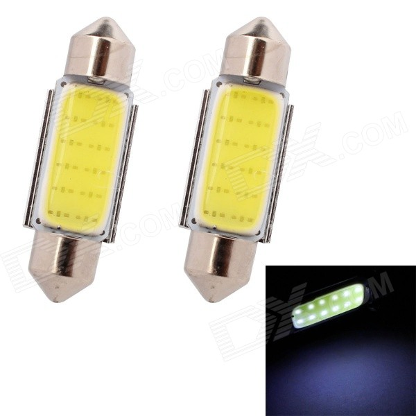 MZ Festoon 36mm 3W 100lm COB LED White Car Reading / License Plate / Roof Lights (12V / 2 PCS)