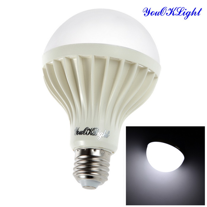 YouOKLight E27 12W 750lm 7500K 18-SMD 5630 White Light Bulb (220V)