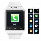 "S18 GSM Watch Phone w/ 1.5"" Screen, Quad Band, Bluetooth and FM - White"
