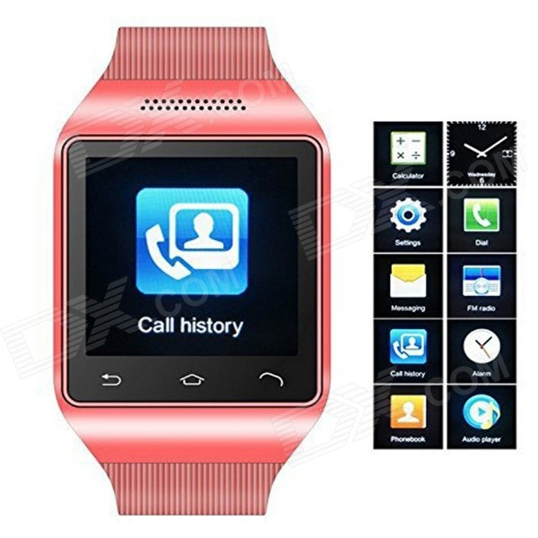 S18 GSM Watch Phone w/ 1.5 Screen, Quad-Band. Bluetooth and FM - Red s18 gsm watch phone w 1 5 screen quad band bluetooth and fm black