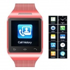 "S18 GSM Watch Phone w/ 1.5"" Screen, Quad-Band. Bluetooth and FM - Red"