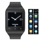 "S18 GSM Watch Phone w/ 1.5"" Screen, Quad-band, Bluetooth and FM - Black"