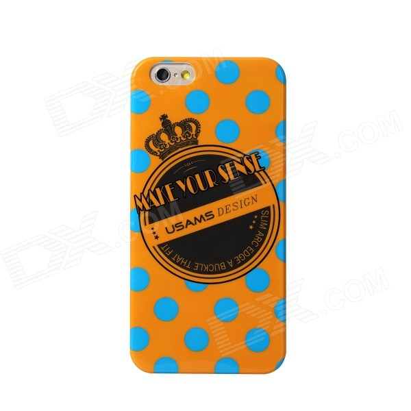 USAMS Crown Series-Orange Protective TPU Back Case for IPHONE 6 4.7 - Orange + Multi-Color usams perfume style tpu back case for iphone 6 4 7 brown multi color