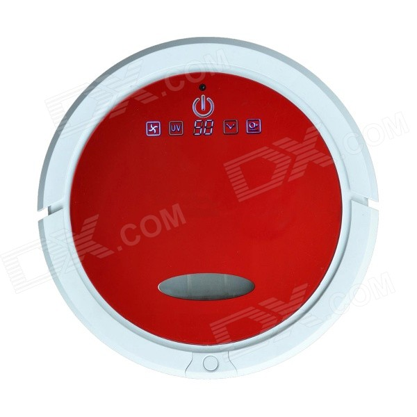 Cleanmate QQ6 25W Robotic Home Smart Sweeping Mopping Vacuum Cleaner - Red + White (110~220V) jisiwei 2017 s smart robotic vacuum cleaner for home mobile app remote control tpu avoidance sensor hd camera robot mopping tool