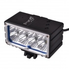 SingFire SF-830 8-CREE XML2 U2 6400LM 3-Mode White Headlamp for Bicycle - Black + Silver (8 x 18650)