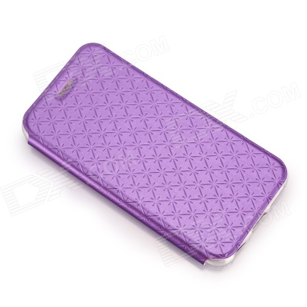 Snow Protective PU Leather Flip-open Case w/ Stand for IPHONE 6 4.7 - Purple protective pu leather flip open case w stand for iphone 6 plus black