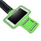 "IPB-i601 Outdoor Sports PU Leather + Elastic Fiber Armband for IPHONE 6 4.7"" - Black + Green"