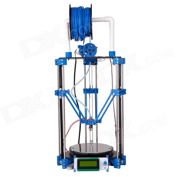 Geeetech Rostock mini Delta 3D Printer - Blue large buid size newest kossel k280 delta 3d printer 24v 400w power with auto level and heat bed two rolls of filament gift