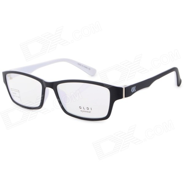 4cad1a039f G8209 C2 Stylish Lightweight TR90 Frame PC Lens Sports Optical Eyeglasses -  Black + White - Free Shipping - DealExtreme