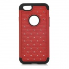 "2-in-1 Protective Silicone + Plastic Case for IPHONE 6 4.7"" - Red + Black"