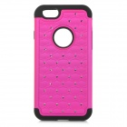 "2-in-1 Protective Silicone + Plastic Case for IPHONE 6 4.7"" - Deep Pink + Black"