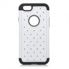 "2-in-1 Protective Silicone + Plastic Case for IPHONE 6 4.7"" - White + Black"